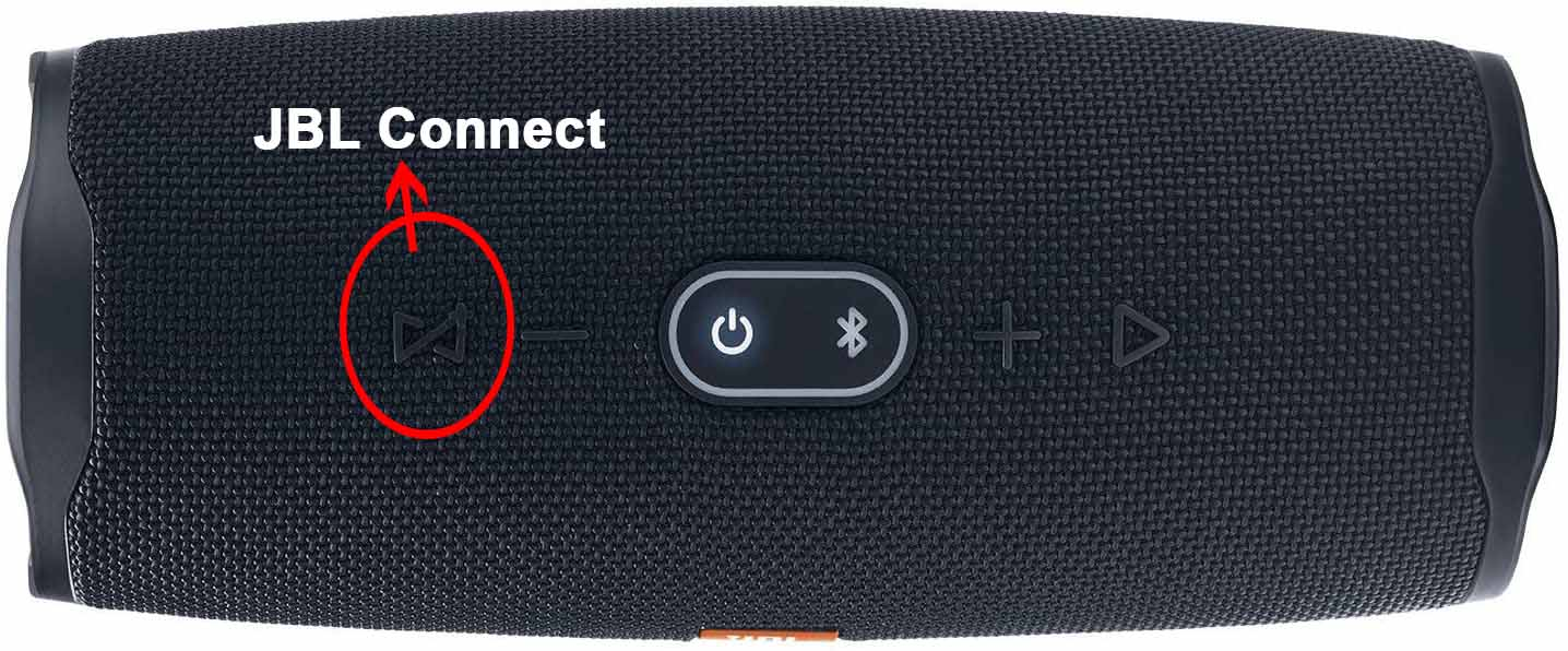 Connect Button on Playing JBL Speaker