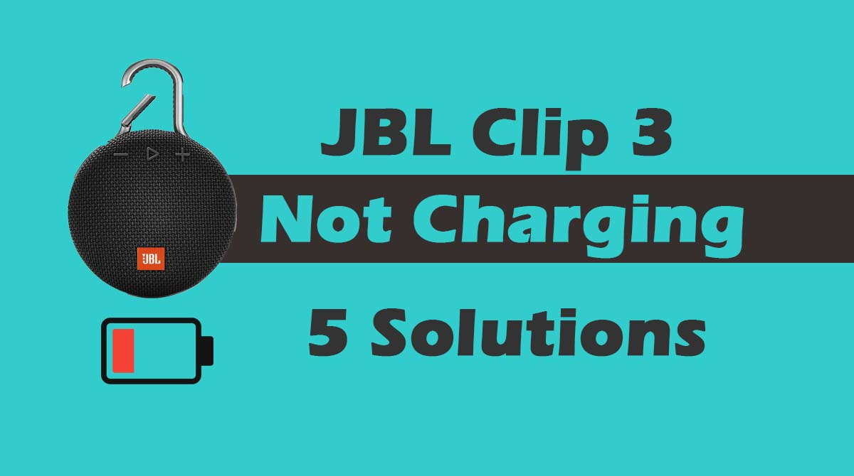 JBL Clip 3 Not Charging