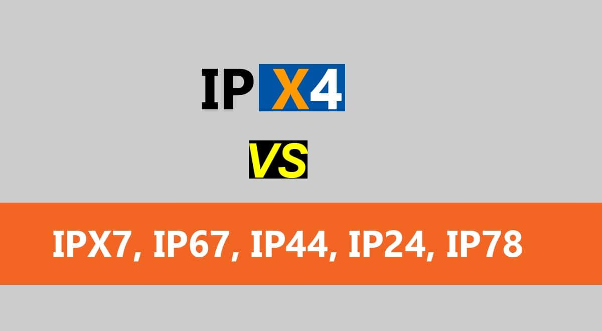 A Comparison of IP Ratings