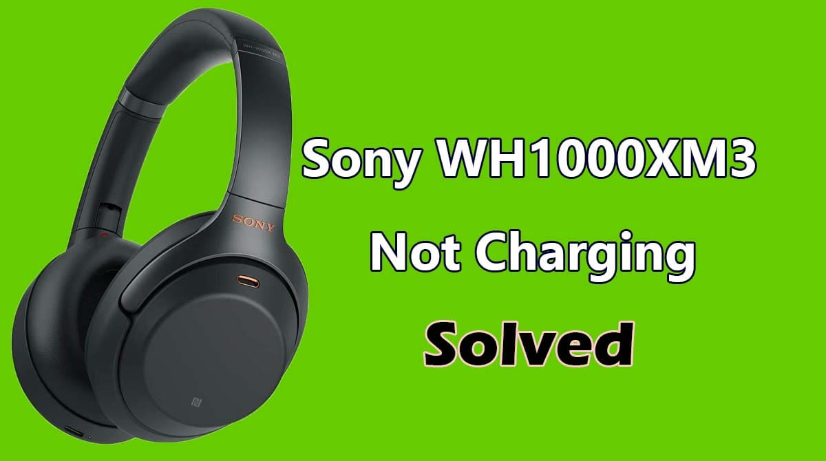 Sony WH 1000xm3 Not Charging
